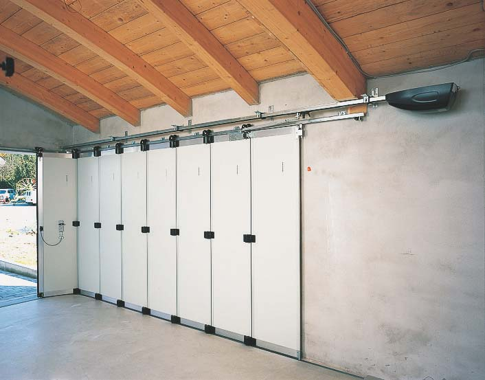 Раздвижные двери гаража своими руками 53